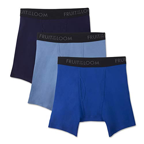 Fruit of the Loom Men's Breathable Underwear, Cotton Mesh - Assorted Color - Boxer Brief, Medium