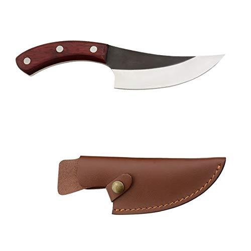 Maneja el cuchillo de cocina de cártamo pequeña pera de madera al aire libre casero Fish Killer deshuesado cuchillo de corte de Split carne Masacre cuchillo juegos de cuchillos juego de cuchillos para