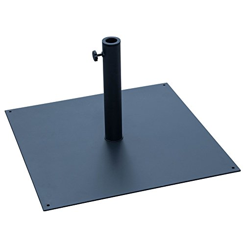 Sundale Outdoor 40 lbs Heavy Duty Square Steel Plate Stand Patio Umbrella Base, Black