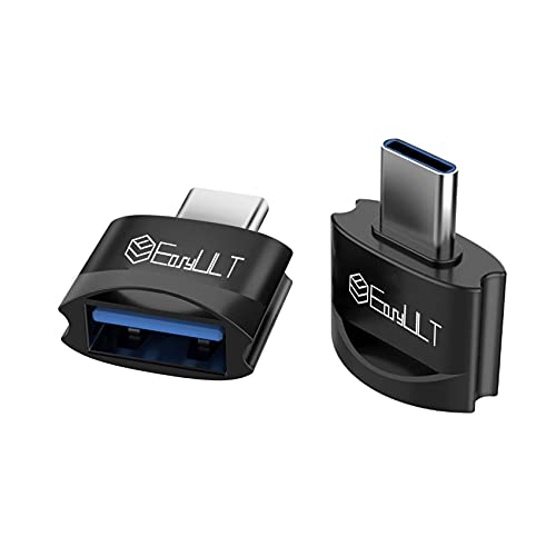 EasyULT Adattatore da USB C a USB 3.0 (2 Pezzi), Alta Velocità Tipo-C a USB A, Adattatore OTG da Thunderbolt 3 a USB Femmina per Samsung S10, MacBook Air 2020, Altri Dispositivi con USB Tipo C-Nero