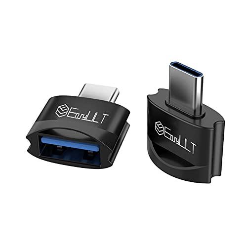 EasyULT Adattatore da USB C a USB (2 Pezzi), Alta Velocità Tipo-C a USB A, Adattatore OTG da Thunderbolt 3 a USB Femmina per Samsung S10, MacBook Air 2020, Altri Dispositivi con USB Tipo C-Nero