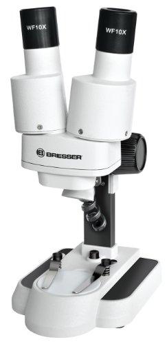 Bresser 3D Stereo Mikroskop Biolux ICD 20x mit 20x Vergrößerung für Kinder und Erwachsene zur Beobachtung von Gesteinen, Pflanzen, Insekten und vielem mehr, sehr langlebige Auflicht LED Beleuchtung