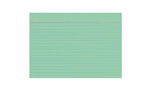 Idena 375029 - Karteikarten DIN A6, 100 Stück, 180 g/m², holzfreies Papier, eingeschweißt, liniert, grün