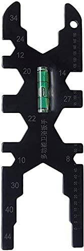 Aocase Llave Multifuncional del baño de ENE Nivel Herramienta de reparación de la Llave de la Llave de la Llave de la Llave de los grifos multifuncionales (Color: Negro)