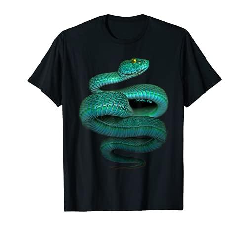 Macrops | Grüne Grubenotter Schlange | DAVIDSFEED T-Shirt