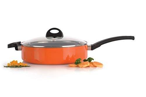 Berghoff 3700160 Sauteuse avec Couvercle Orange 26 cm, Aluminium forgé