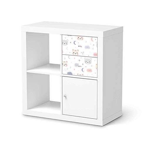 Kinder Möbel-Folie - passend für IKEA Kallax Regal Schubladen I Hochwertige Baby-Zimmer Deko - Möbeldekoration für Kinder- und Babyzimmer I Design: Sweet Dreams