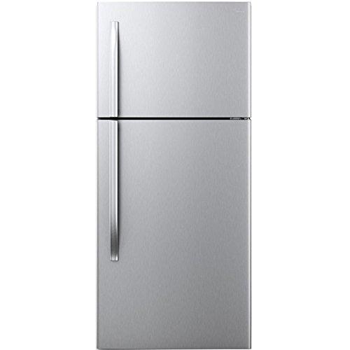 Midea 18 cu. ft. Top Mount Refrigerator -Stainless Steel