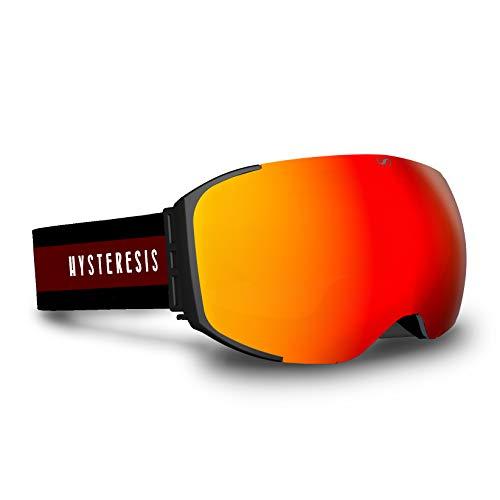 HYSTERESIS Freeride Magnet Banff Wine - Gafas De Esquí con Lentes Magnéticas Intercambiambles (2 Lentes Incluidas)