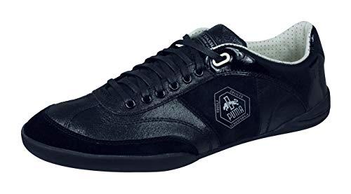 PUMA Rudolf Dassler Standpunkt Herren Turnschuhe Leder Sneaker-Black-39