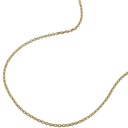 Unbespeeld gouden ketting halsketting gouden ketting dames ankerketting dun 375 geelgoud 9 kt voor vrouwen lengte 42 cm x 0,7 mm hanger goud