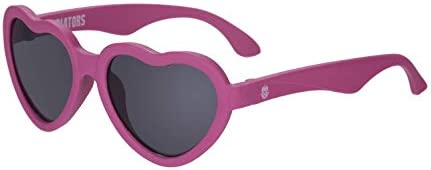 Babiators UV Protection Baby Toddler Children s Sunglasses Pink Heart 0 2 Years product image