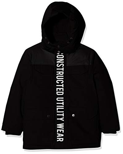 NAME IT Jungen NKMMAUGUST Parka Jacket Jacke, Schwarz (Black Black), (Herstellergröße: 134)