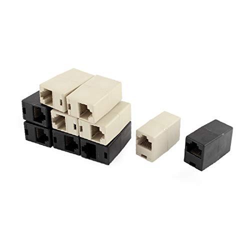 X-DREE Cat5 RJ45 Lan Red Ethernet Adaptador de unión de cable Ethernet...