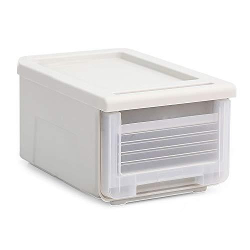 Kcakek Transparent låda underkläder förvaringslåda plast sänglåda förvaringslåda under sängen plastförvaring klar låda stark hemförvaring kung perfekt för hem kontor och garage (storlek: 23 L)