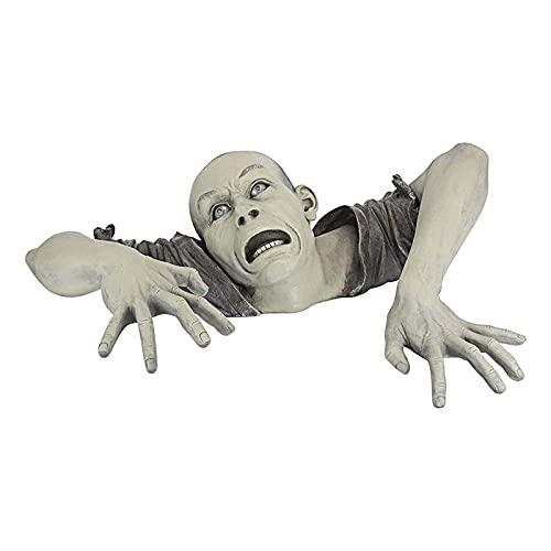 WASDY Ground Art Garden Sculpture, The Zombie of Montclaire Moors Divertido Adorno de Estatua Jardín Césped Porche Decoración de Patio, Fiesta de Halloween Decoración de Arte para el hogar