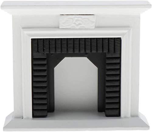 WXH SLL- 01.12 Puppenhaus Möbel viktorianischen Stil aus Holz Kamin Miniatur-Weiß Kamin Puppenhaus aus Holz Fee Landschaft Mini Puppenmöbelzubehör