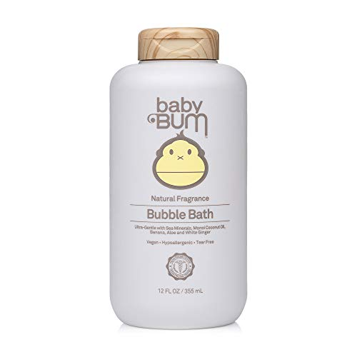 Baby Bum Bubble Bath | Tear Free Foaming Bubble Bath for Sensitive Skin with White Ginger| Natural Fragrance | Gluten Free and Vegan | 12 FL OZ | 1 Pack