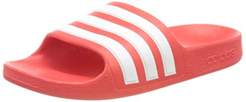 Adidas Unisex Kinder Adilette Aqua Dusch-& Badeschuhe, Vivid Red/Cloud White/Vivid Red, 35 EU
