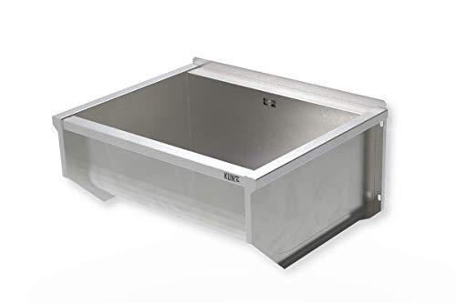 KUNe Ausgussbecken 70 cm PLUS | 70 x 30 x 50 cm | Waschtrog aus Edelstahl | Waschbecken