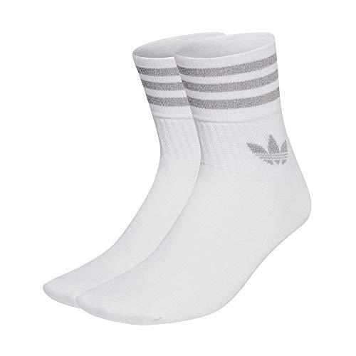 adidas GU2383 CREW SOCK 2PP Socks unisex-adult white/reflective silver L
