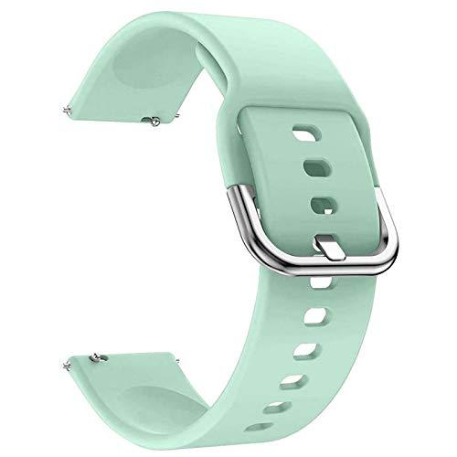 EWENYS Correa de repuesto para deportiva silicona suave de smartwatch, Compatibile con Samsung Galaxy Watch Active 2 40mm 44mm / Garmin vivoactive 3 / Amazfit GTS GTR 42mm (20mm, Menta verde)