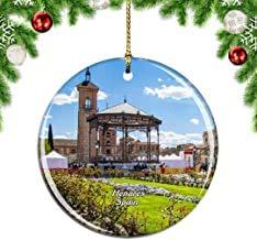 Kysd43Mill Palacio de Arzobispo de España Alcala de Henares Árbol de Navidad Decoración para Colgar Ornamentos, Cerámica Navidad Ornamentos, Decoraciones de Navidad