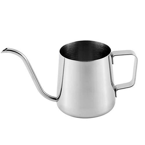 QAIYXM 250 Ml 350 Ml Edelstahl Lange Grenzen des Auslaufs Kaffeekanne, Gooseneck Kettle Hand Drip Kessel Gießen Kaffee Und Tee-Topf-Haushalt Schmalen Mund Topf,B,350