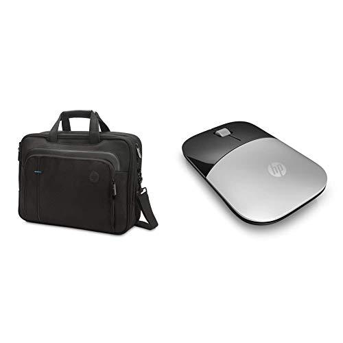 HP - PC smb borsa a tracolla per portatili fino a 15.6 & pc z3700 mouse wireless, sensore preciso, tecnologia led blue, 1200 dpi, 3 pulsanti