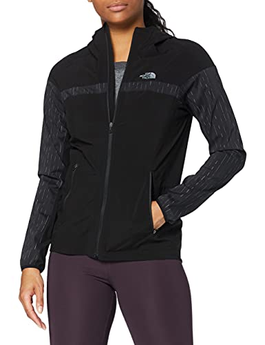 The North Face Ambition Rain, Chaqueta Impermeable para Mujer, Negro ((Tnf Light Grey Heather), XS