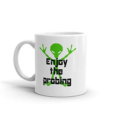 Tazza da caffè aliena Goditi Il sondaggio Alieno sondaggio Sci Fi Geekery UFO Spazio Esterno rapimento Alieno Tazza Divertente Sarcasmo Umorismo per Adulti