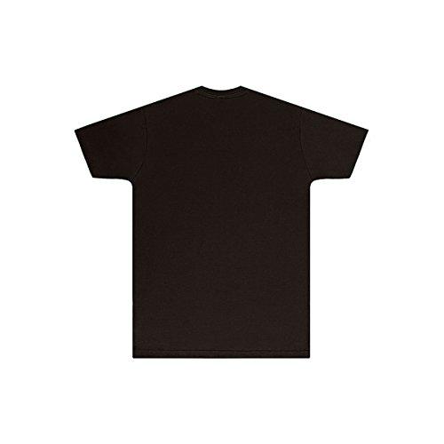 SG - Camiseta Print para Hombre (Mediana (M)) (Negro)