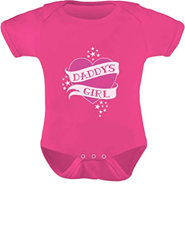 Roupas para bebês – Body para bebê Daddy's Little Girl, Rosa (uau), 24 meses