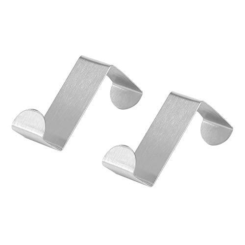 #N/V 2 ganchos de acero inoxidable para armario de cocina para dibujar toallas y ropa