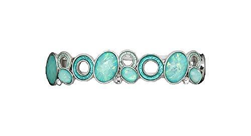 Equilibrium Shine Moonstone Set Bracelet Turquoise & Silver tone 54499