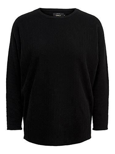 Only Onlsiff 7/8 Bat Pullover Knt Noos suéter, Negro (Black Black), X-Small para Mujer
