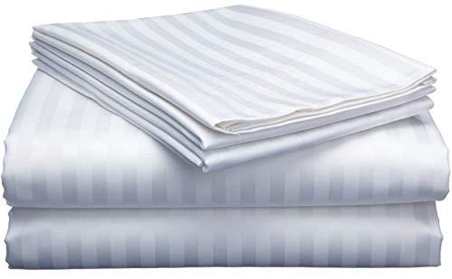RajLinen Juego de sábanas de 300 hilos, 100% algodón, juego de sábanas de 4 piezas de algodón extralargo, se adapta a colchones de 15 pulgadas de profundidad