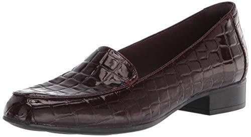Clarks Juliet Lora, Zapatillas Deportivas. para Mujer, Impresión de cocodrilo sintético de Color Burdeos, 36 EU