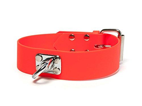 Mystique® Biothane Schweisshalsband 38mm neon orange 35-45cm