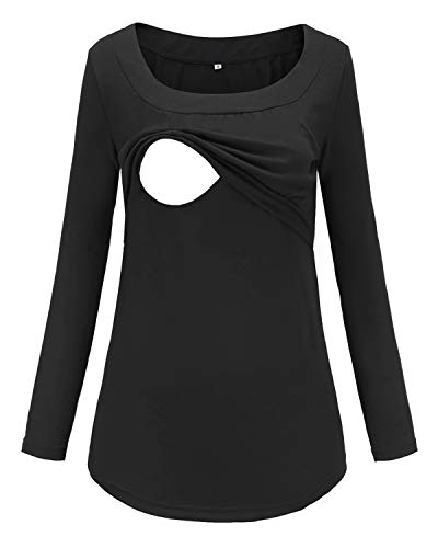 Product Image of the BBHoping Women's Nursing Hoodie Sweatshirt Long Sleeves Maternity Tops Casual...