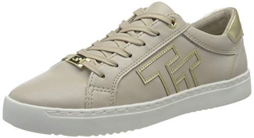 TOM TAILOR Damen 3293207 Sneaker, beige-Gold, 37 EU