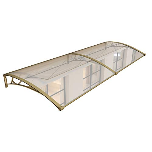 LIANGLIANG Awning Rain Door Canopy, Polycarbonate Wind Resistance Hardy Strong Lighting, Silent Rain Ride Doorway Bay Window (Color : Transparent, Size : 200x60cm)