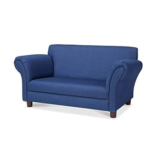 Melissa & Doug Child's Sofa (Blue Denim Children's Furniture, 35.4' H x 20.5' W x 18.3' L)