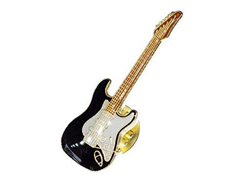Miniblings E-Gitarre Pin Brosche Gitarrist Gitarre Schwarz Mini - Handmade Modeschmuck I Anstecknadel Button Pins