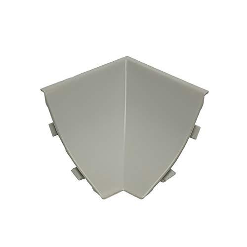 DQ-PP WINKELLEISTE INNENECKE | Aluminium matt | 23 x 23mm | PVC | Küchenleiste Arbeitsplatte Abschlussleiste Leiste Küche Küchenabschlussleiste Wandabschlussleiste Tischplattenleisten