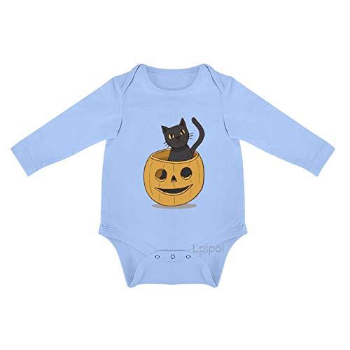 Lplpol Halloween gato calabaza bebé algodón manga larga mono mono para bebé niños niñas Unisex 0s8l54tdt1rp