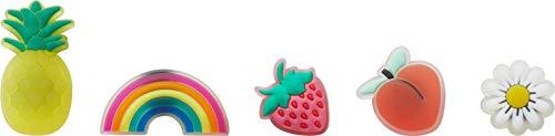 Crocs Jibbitz SHOE ACCESSORY Throwback 5-Packs | Jibbitz for Crocs, Translucent Fruit, Small