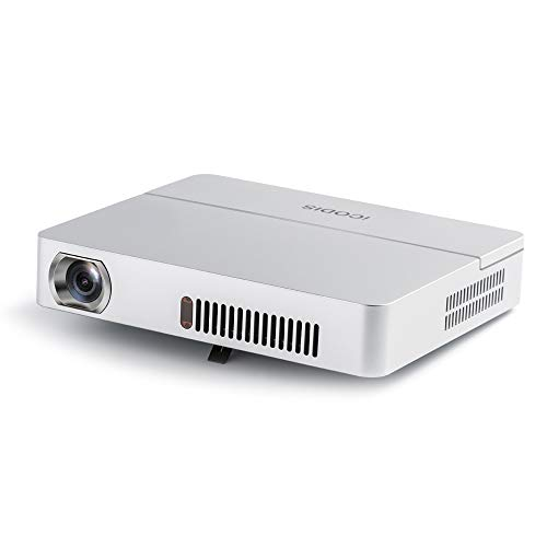 iCODIS RD-813 Mini Projector, 3000lm Portable Pico Projectors, Native HD Resolution, Support 1080P, 10000:1 Contrast Ratio, Build in 10000mAh Battery, Compatible with TV Stick, PS4, HDMI, VGA, USB
