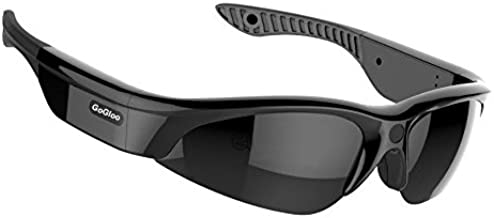 Gogloo H.264 MP4 1080P HD Sport Polarized Sunglasses with Video Camera DV, Smart Camera Sunglasses (Black, 1080P@30fps, 90degree)