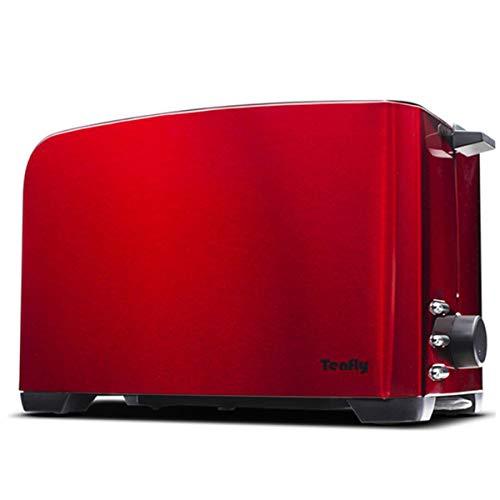 HBHHB Automatisch Brotbackmaschine 5 Modi 2 Stück Kapazität Edelstahl Brotbackautomat 360 ° Backen Bread Maker Für Den Familiengebrauch,Rot